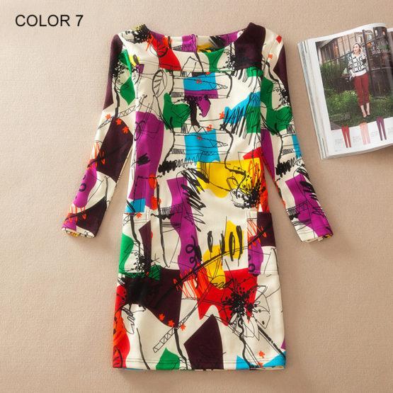 Bohemian Dress Spring Fashion Flower Print