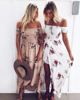 Boho Dress Lady Strapless