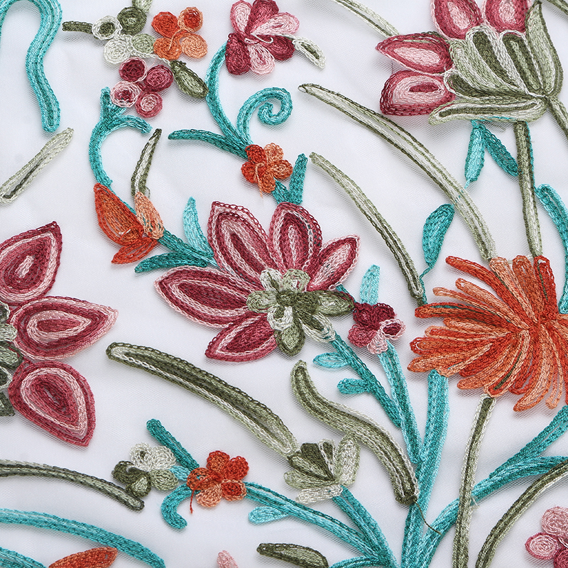 Boho Fashion Vintage Floral Embroidery Lace