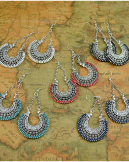 Boho Drop Earrings Jewelry Vintage Silver