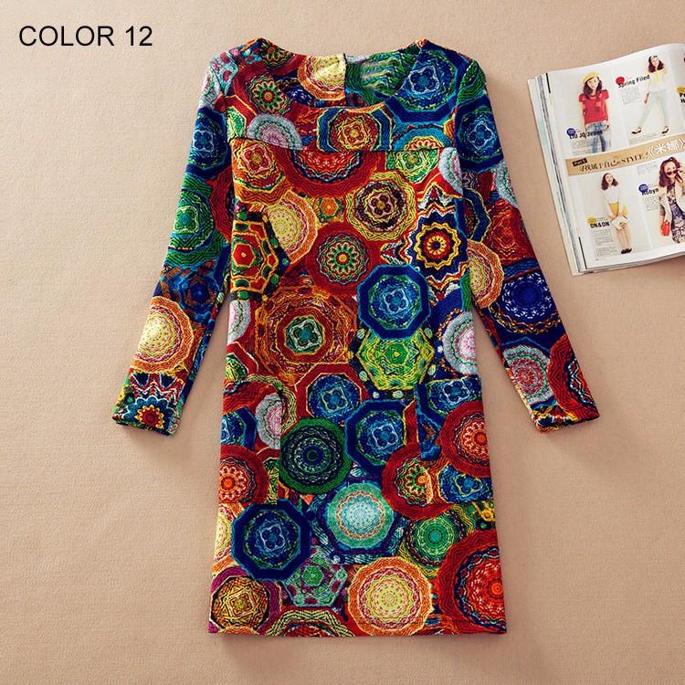 Boho Dress Spring Fashion Flower Print