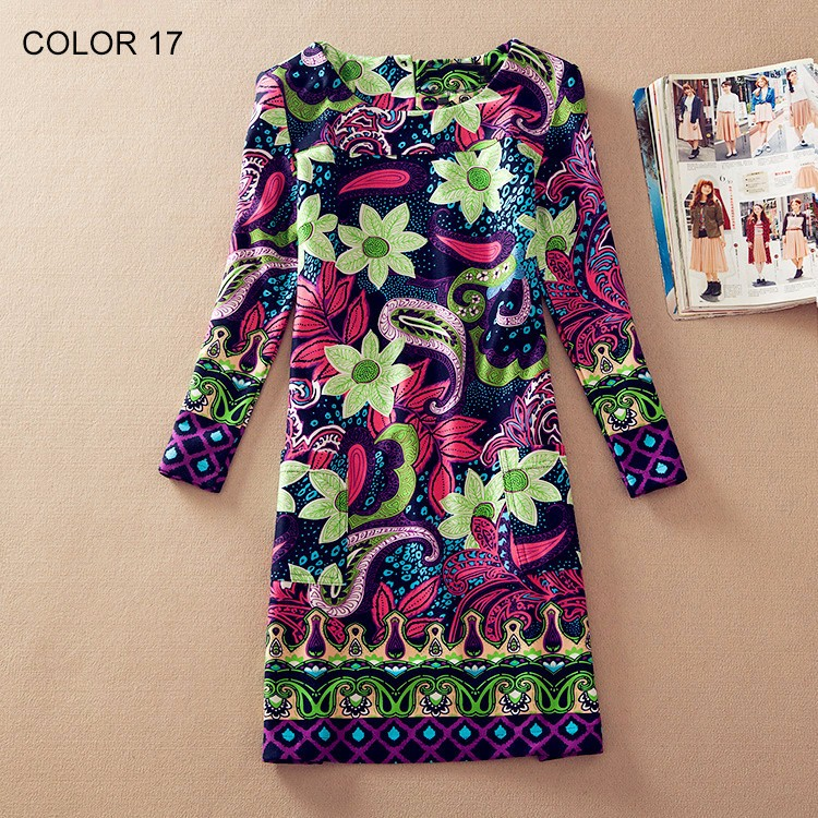 Ladies Long Sleeve Casual Autumn Color 17