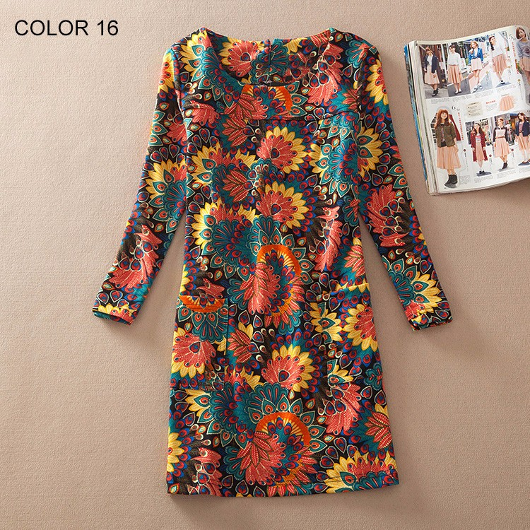 Ladies Long Sleeve Casual Autumn Color 16