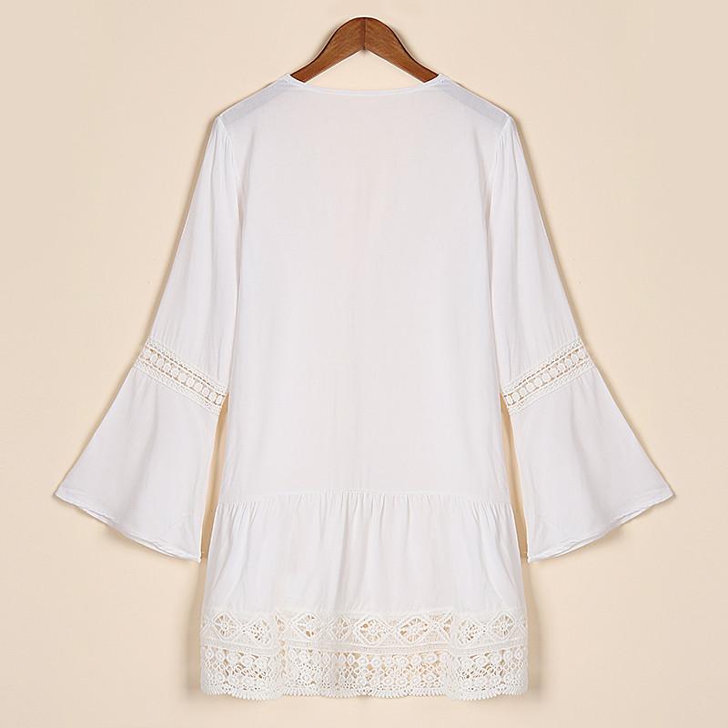 Boho Deep V-neck Lace Crochet