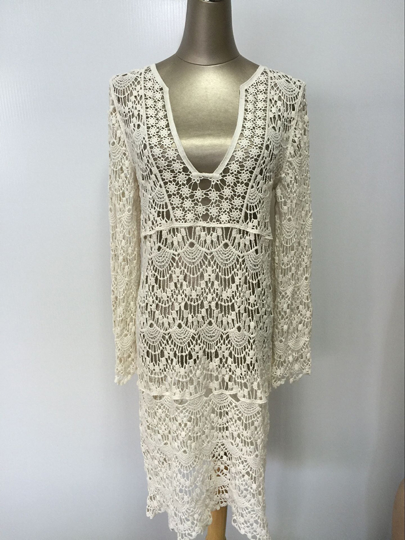 Sexy-Ladies-White-Handmade-Crochet-Summer-Beach-Lace-Dress-Women-Long-Sleeve-Hollow-Out-Boho