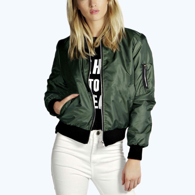 Women-Thin-Jacket-Bomber-Long-Sleeve-Coat-Casual-Stand-Collar