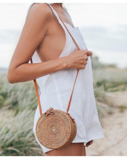 Hand Woven Bag Round
