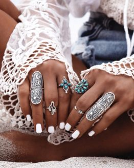 Bohemian Beach Women Ring Set