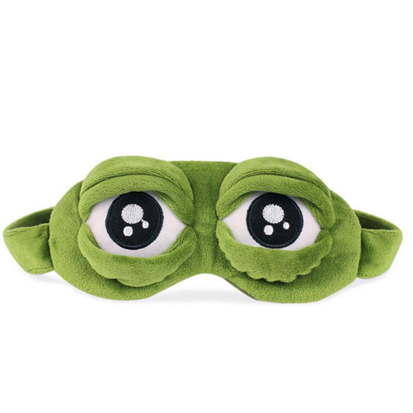 Sleep Mask 3D Sad Frog