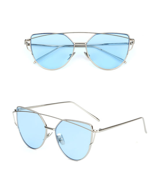 Silver/Blue clear