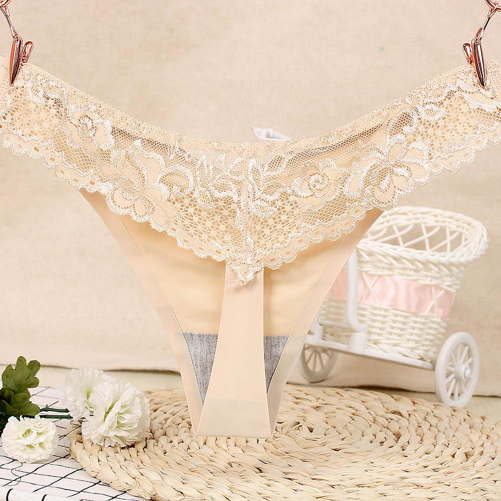 Low Waist Underwear Soft Lingerie Ice Silk