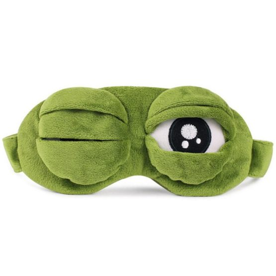 3D Sad Frog Sleep Mask
