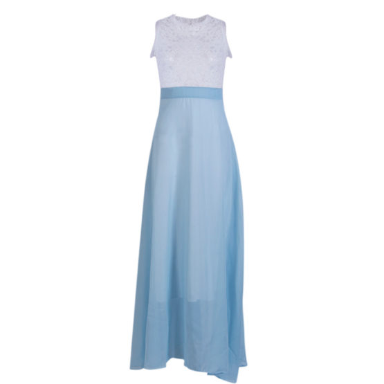 Spring Evening Party Dress Boho Sleeveless Maxi