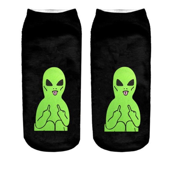 Socks Funny Aliens 3D Printing Cotton