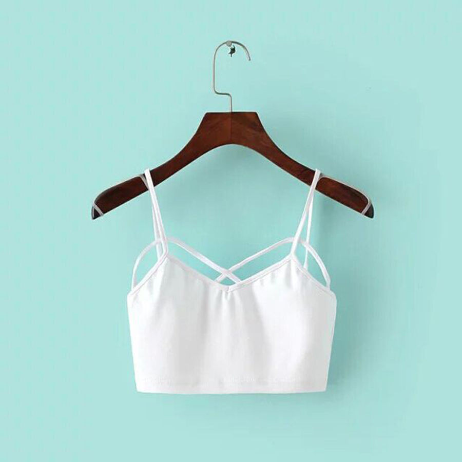 Strappy Padded Bra Tops Tank Blouse Bustier