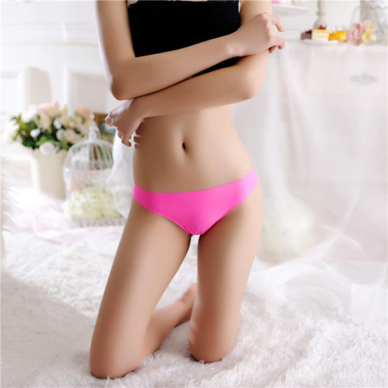 Solid Sexy Lingerie Panties Thongs Seamless